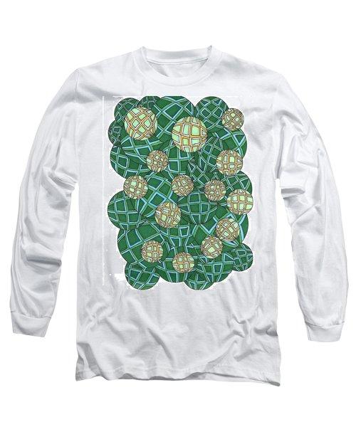 Spheres Cluster Green Long Sleeve T-Shirt