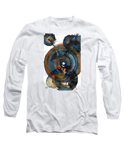 Long Sleeve T-Shirt featuring the painting Spherical Joy Series 03.030211 by Kris Haas