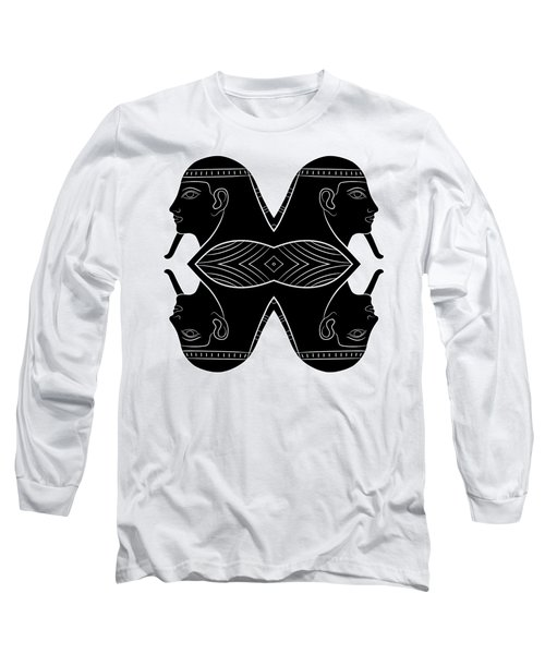 Sphinx - Mythical Creature Of Ancient Egypt Long Sleeve T-Shirt by Michal Boubin