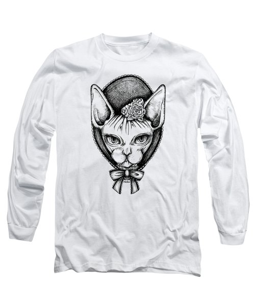 Sphynx Lady Long Sleeve T-Shirt by Akiko Okabe