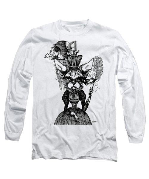 Sphynx Queen Long Sleeve T-Shirt by Akiko Okabe