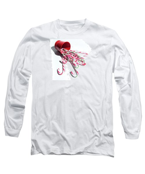 Spilled Candy Canes Long Sleeve T-Shirt
