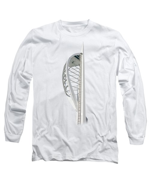 Spinnaker Tower On Transparent Background Long Sleeve T-Shirt