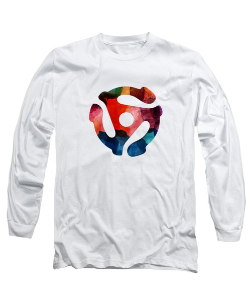 Spinning 45- Art By Linda Woods Long Sleeve T-Shirt