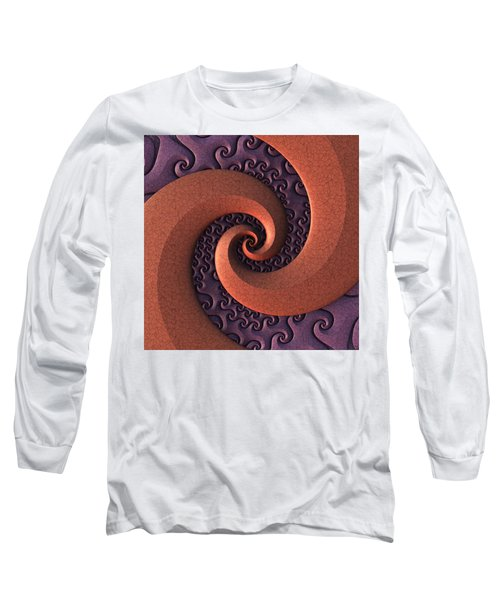 Long Sleeve T-Shirt featuring the digital art Spiralicious by Lyle Hatch