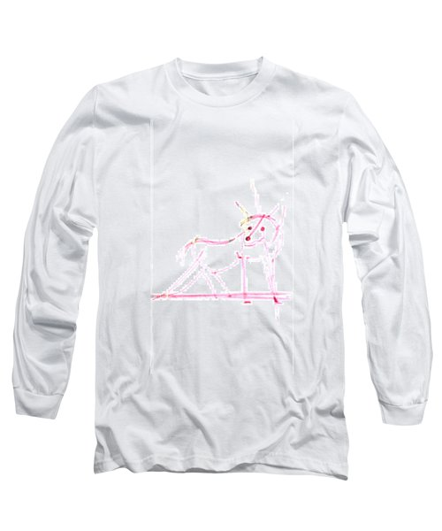 Spirit Animal . Ghost Fox Long Sleeve T-Shirt