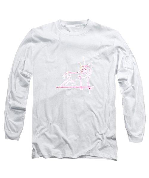 Spirit Animal . Ghost Fox Long Sleeve T-Shirt
