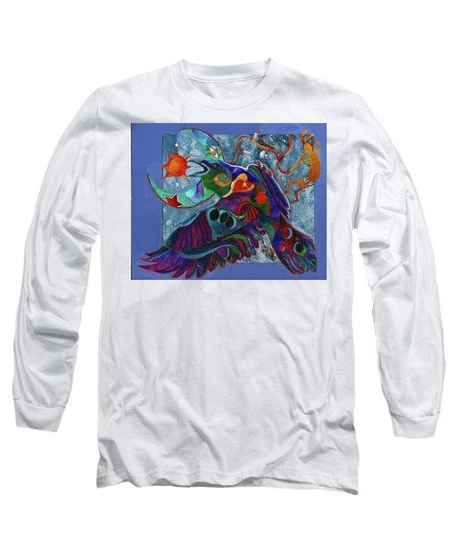 Spirit Raven Totem Long Sleeve T-Shirt