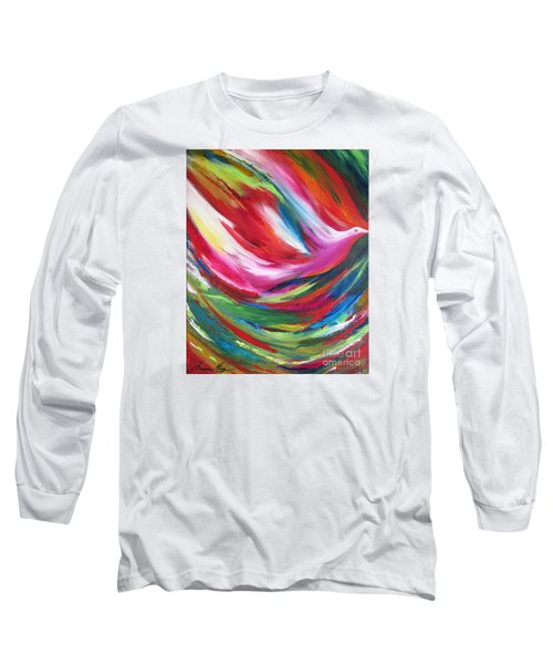 Spirit Takes Flight Long Sleeve T-Shirt by Denise Hoag