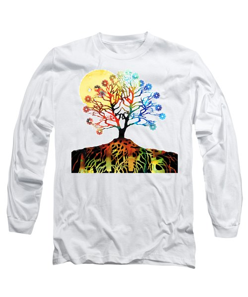 Spiritual Art - Tree Of Life Long Sleeve T-Shirt