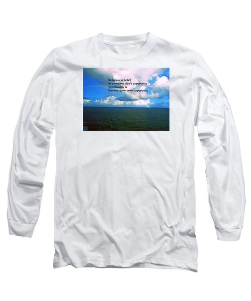 Long Sleeve T-Shirt featuring the photograph Spiritual Belief by Gary Wonning