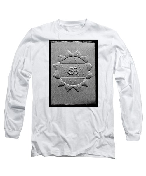 Long Sleeve T-Shirt featuring the relief Spiritual Om Yantra by Suhas Tavkar