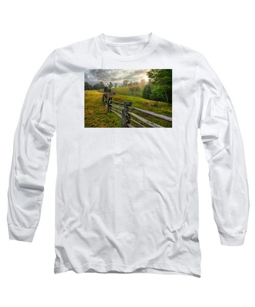 Splash Of Morning Light Long Sleeve T-Shirt by Dan Carmichael