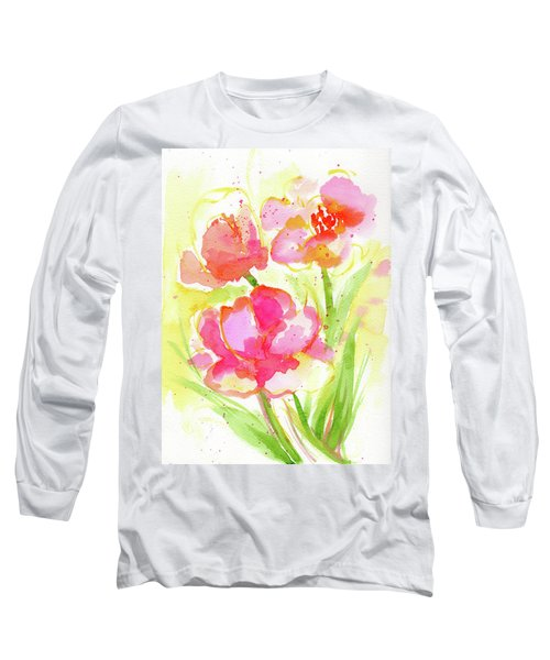 Splash Of Pinks  Long Sleeve T-Shirt