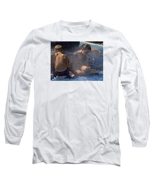 Long Sleeve T-Shirt featuring the photograph Splish Splash Summer by Laura Ragland
