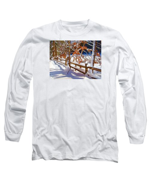 Split Rails Long Sleeve T-Shirt by Betsy Zimmerli