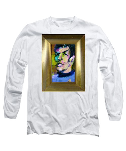 Spock Long Sleeve T-Shirt by Les Leffingwell