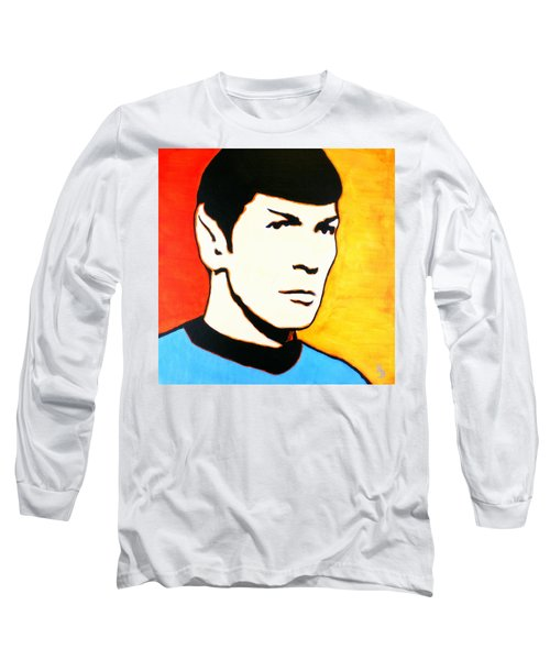 Spock Vulcan Star Trek Pop Art Long Sleeve T-Shirt