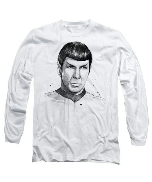 Spock Watercolor Portrait Long Sleeve T-Shirt