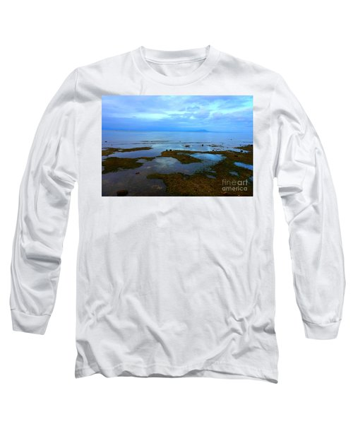 Spooky Morning Tide Receded From Beach Long Sleeve T-Shirt