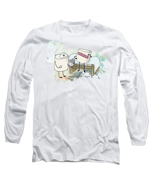 Spoonful Of Sugar Words Illustrated  Long Sleeve T-Shirt by Heather Applegate