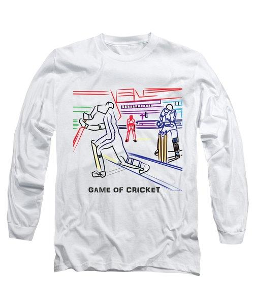 Sports Fan Cricket Played India England Pakistan Srilanka Southafrica Long Sleeve T-Shirt by Navin Joshi