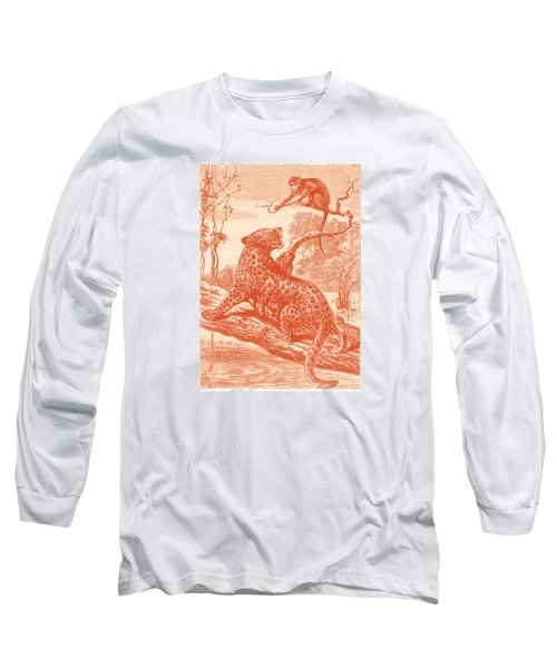 Long Sleeve T-Shirt featuring the drawing Spotted by David Davies