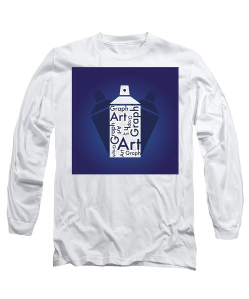 Graph Art Spray Can Long Sleeve T-Shirt