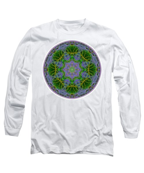 Spring Bloom Colors Mandala Long Sleeve T-Shirt