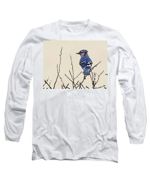 Spring Bluejay Long Sleeve T-Shirt