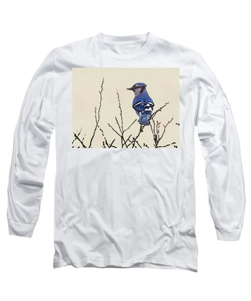 Spring Bluejay Long Sleeve T-Shirt
