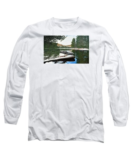 Long Sleeve T-Shirt featuring the painting Spring Breakup by Kenneth M Kirsch