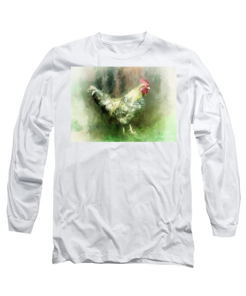 Long Sleeve T-Shirt featuring the digital art Spring Chicken by Lois Bryan