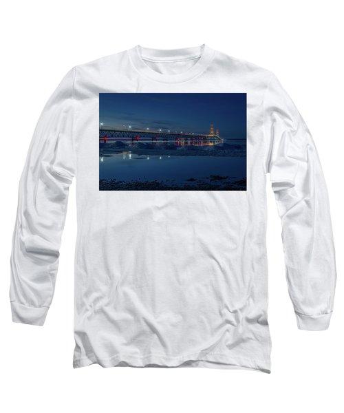 Spring Evening At The Mackinac Bridge Long Sleeve T-Shirt