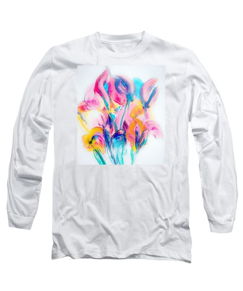 Spring Floral Abstract Long Sleeve T-Shirt