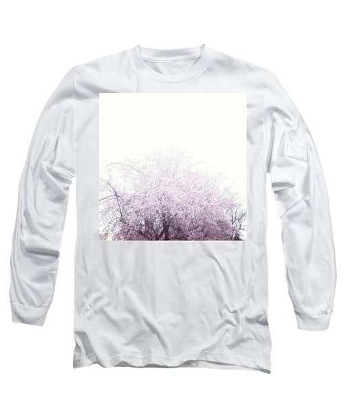 #spring #flowers #tree #college #pink Long Sleeve T-Shirt