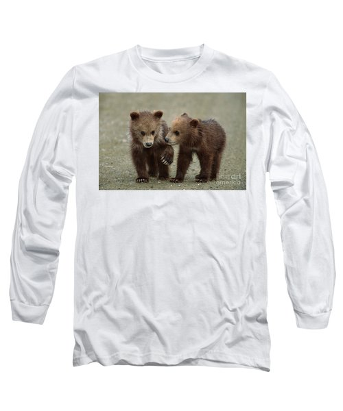 Spring Grizzly Cubs In Denali Long Sleeve T-Shirt