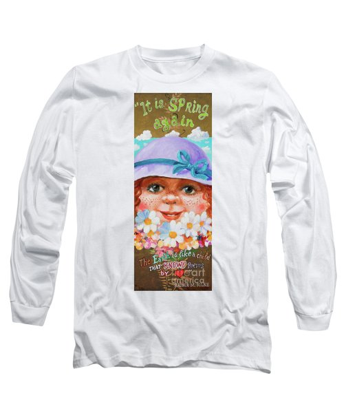 Long Sleeve T-Shirt featuring the painting Spring by Igor Postash