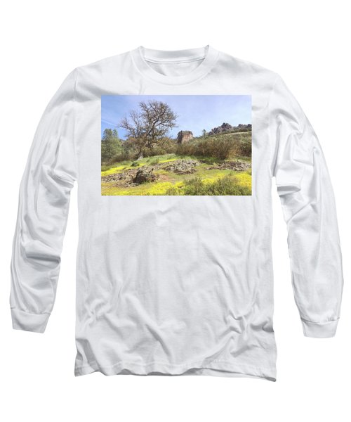 Long Sleeve T-Shirt featuring the photograph Spring In Pinnacles National Park by Art Block Collections