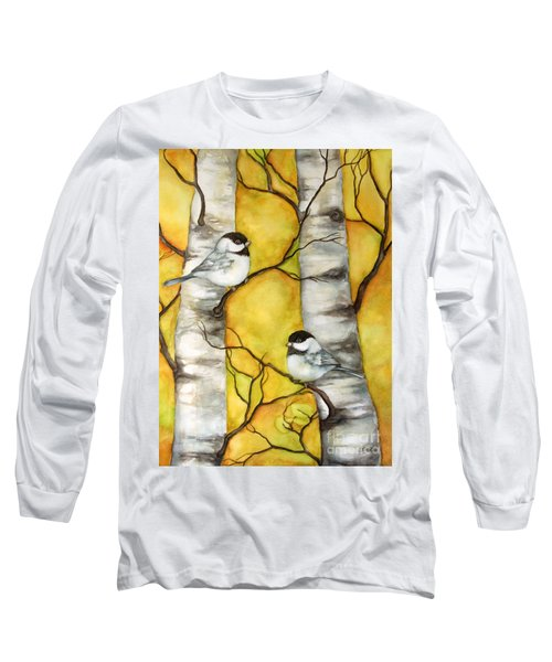 Long Sleeve T-Shirt featuring the painting Spring by Inese Poga