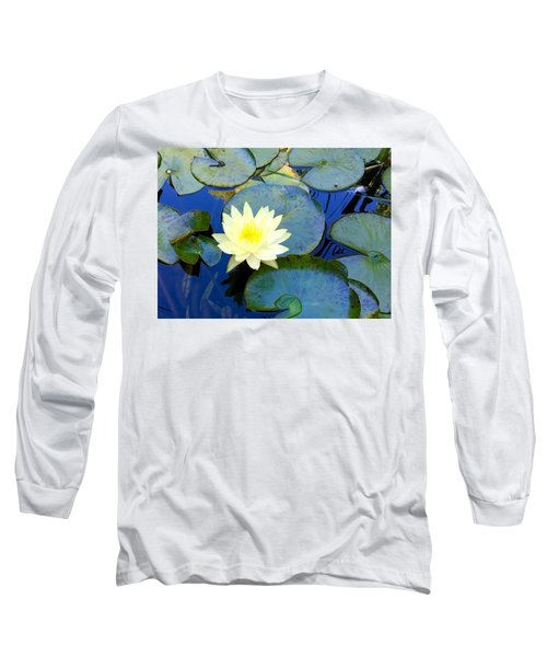 Spring Lily Long Sleeve T-Shirt by Angela Annas