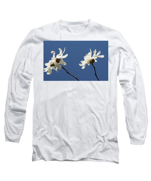 Spring Magnolias Long Sleeve T-Shirt by Haleh Mahbod