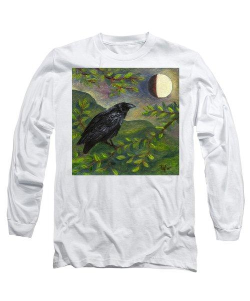 Spring Moon Raven Long Sleeve T-Shirt