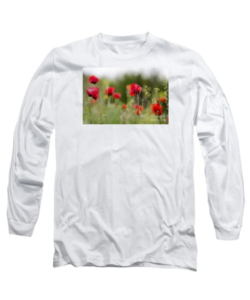 Spring Poppies  Long Sleeve T-Shirt by Perry Van Munster