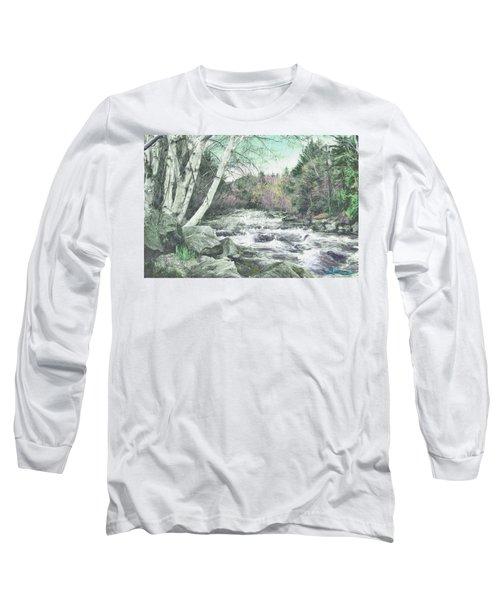Spring Runoff Long Sleeve T-Shirt by John Selmer Sr
