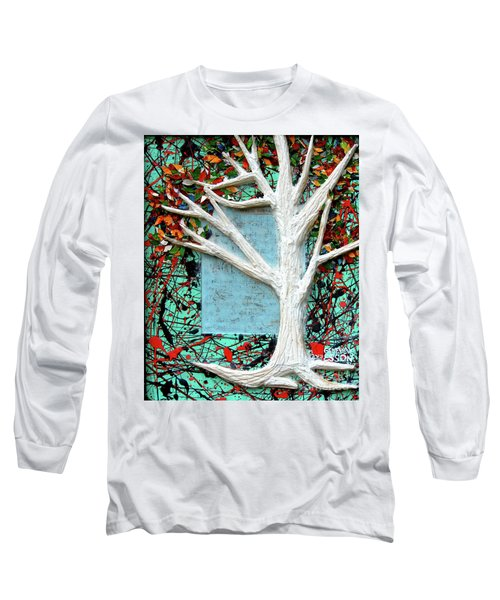 Long Sleeve T-Shirt featuring the painting Spring Serenade With Tree by Genevieve Esson