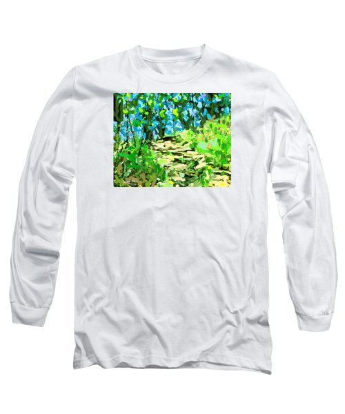 Spring Wood Path  Long Sleeve T-Shirt