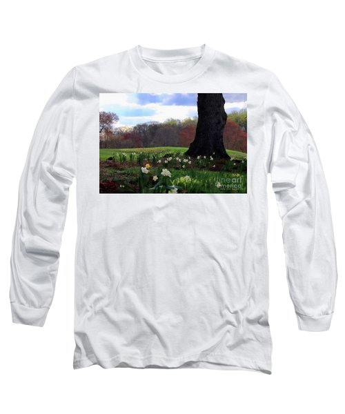 Springing Forward At Edgemont Golf Course Long Sleeve T-Shirt by Polly Peacock