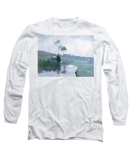 Long Sleeve T-Shirt featuring the painting Springtime by John Henry Twachtman
