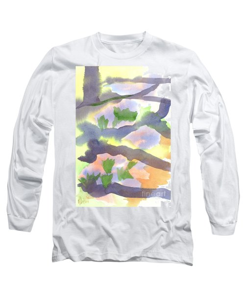 Long Sleeve T-Shirt featuring the painting Springtime Wildflower Camouflage  by Kip DeVore